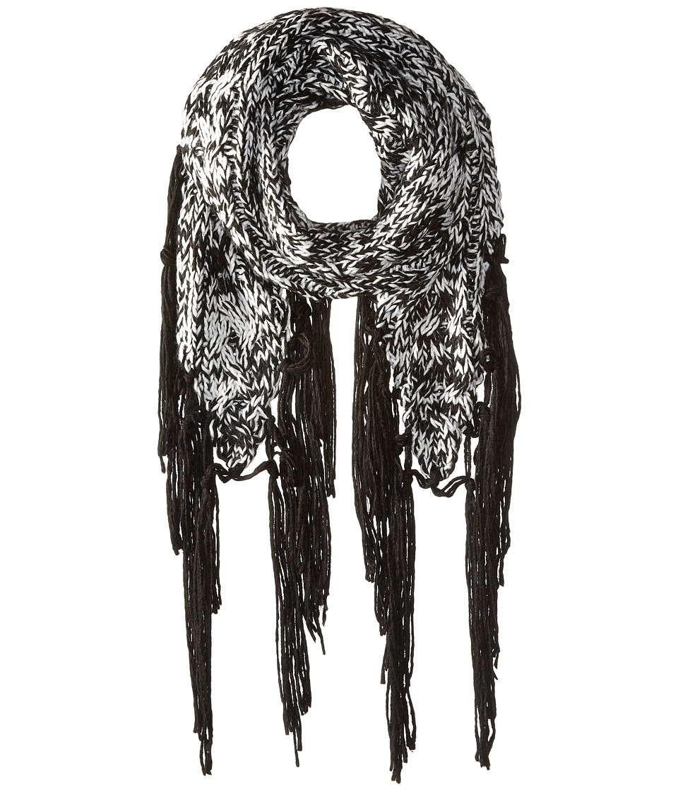 Volcom - Easy Knit Scarf (Black/White) Scarves