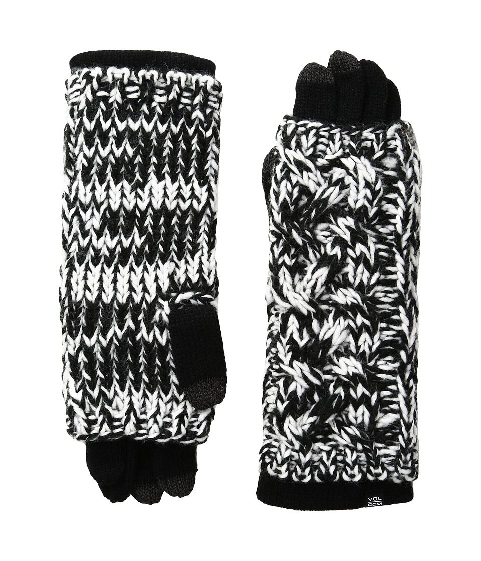 Volcom - Easy Knit Gloves (Black/White) Extreme Cold Weather Gloves