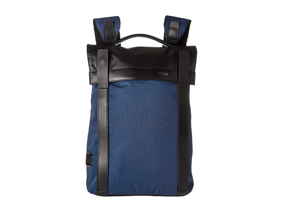 Tumi - Tahoe - Kent Flap Backpack (Blue) Backpack Bags