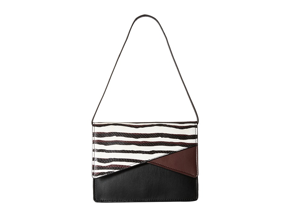 French Connection - Remy Clutch (Black/White Stripe Snake) Clutch Handbags