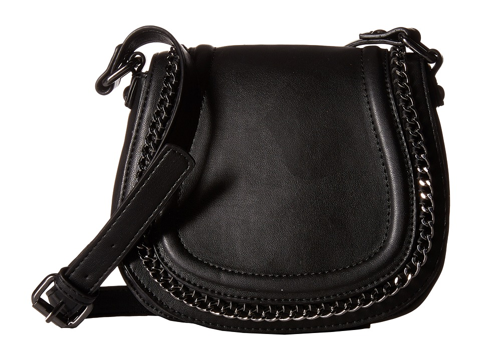 French Connection - Alexa Saddle Bag (Black) Cross Body Handbags