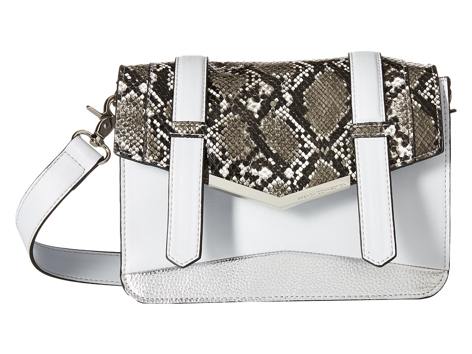 French Connection - Remy Crossbody (Salt Water/Black/White Snake) Cross Body Handbags