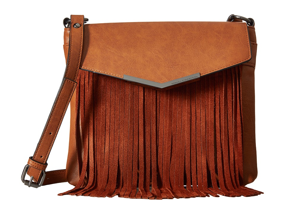 French Connection - Lola Crossbody (Nutmeg/Nutmeg Suede) Cross Body Handbags