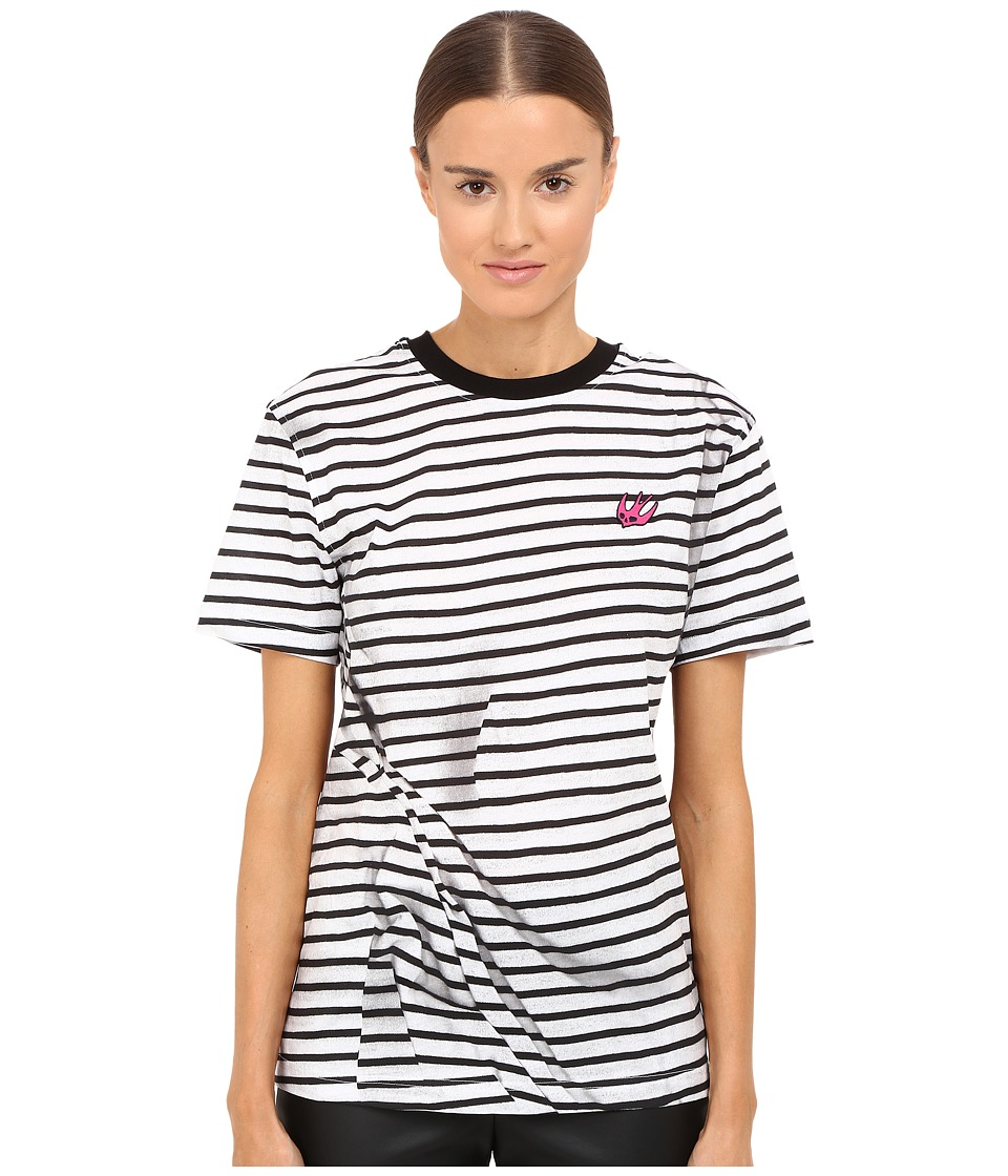 McQ - Classic T-Shirt (Broken Stripe) Women's Short Sleeve Pullover