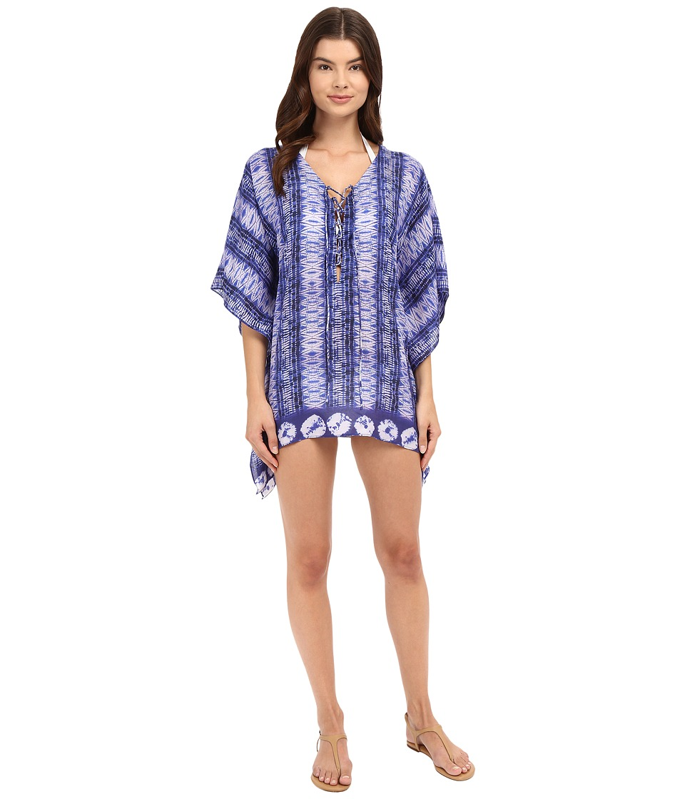 Bindya Diamond Cover-Up Blue Multi Swimwear