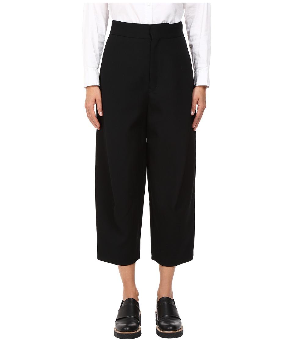 Y's by Yohji Yamamoto - K-Tucked Pants (Black) Women's Casual Pants