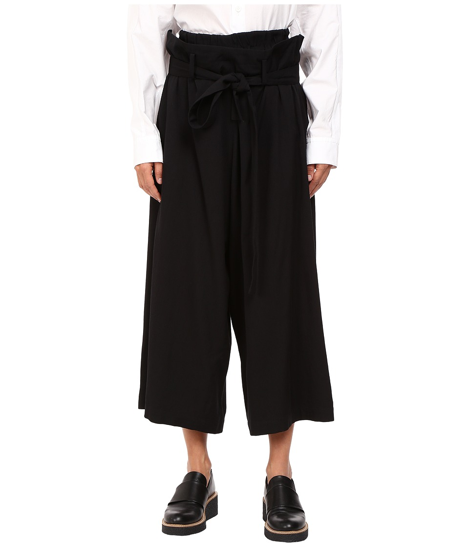 Y's by Yohji Yamamoto - U-Belted Pants (Black) Women's Casual Pants