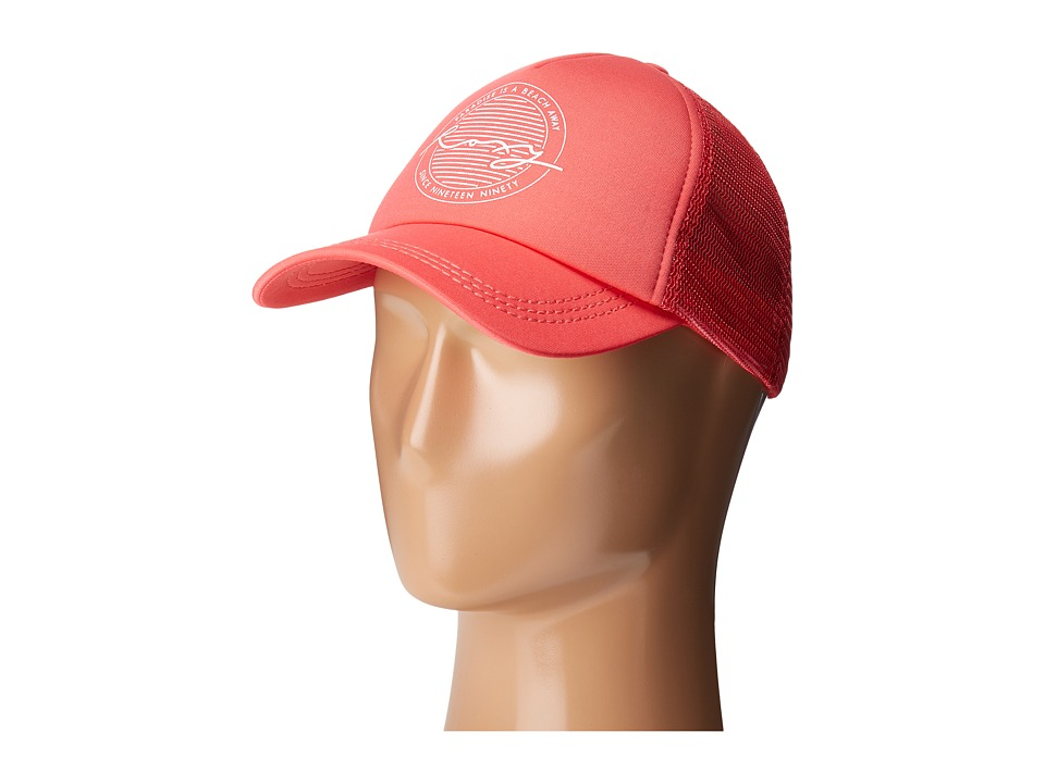 Roxy - Truckin Trucker Hat (Nectarine) Caps