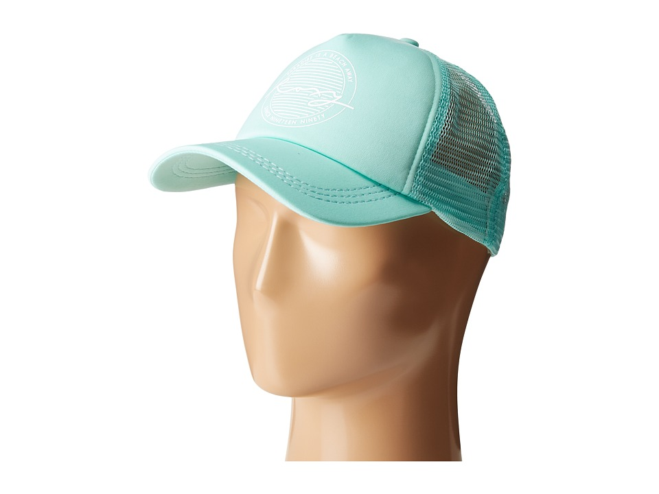 Roxy - Truckin Trucker Hat (Peppermint) Caps