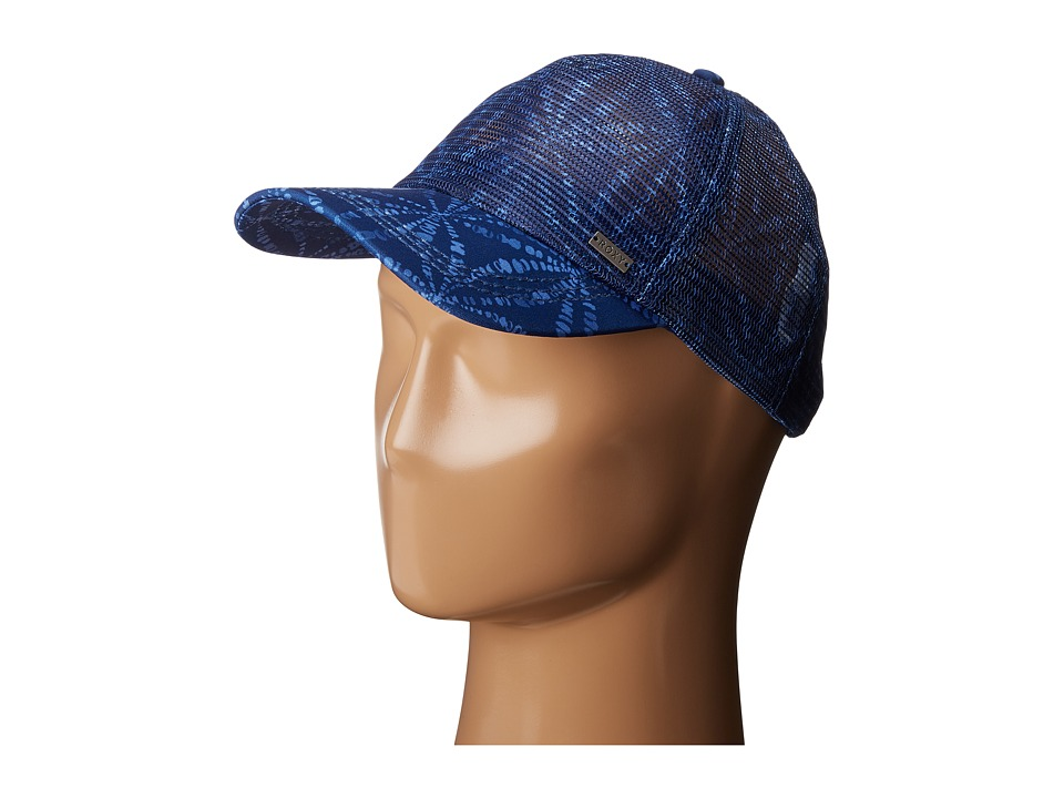 Roxy - Your Baby Patch Trucker Hat (Chibu Geometric Blue Print) Traditional Hats