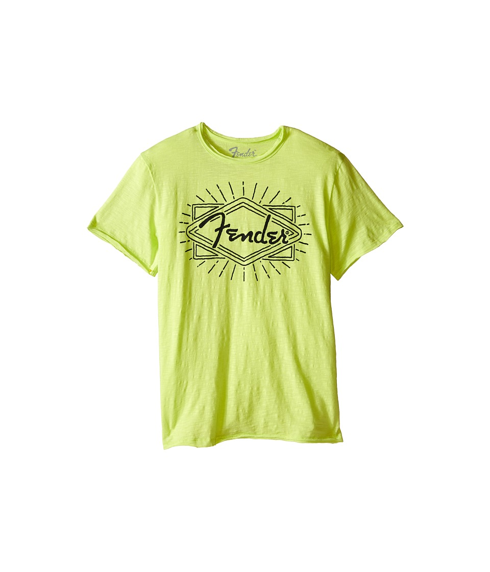 Lucky Brand Kids - Fender Ray Tee (Big Kids) (Neon Green) Boy's T Shirt