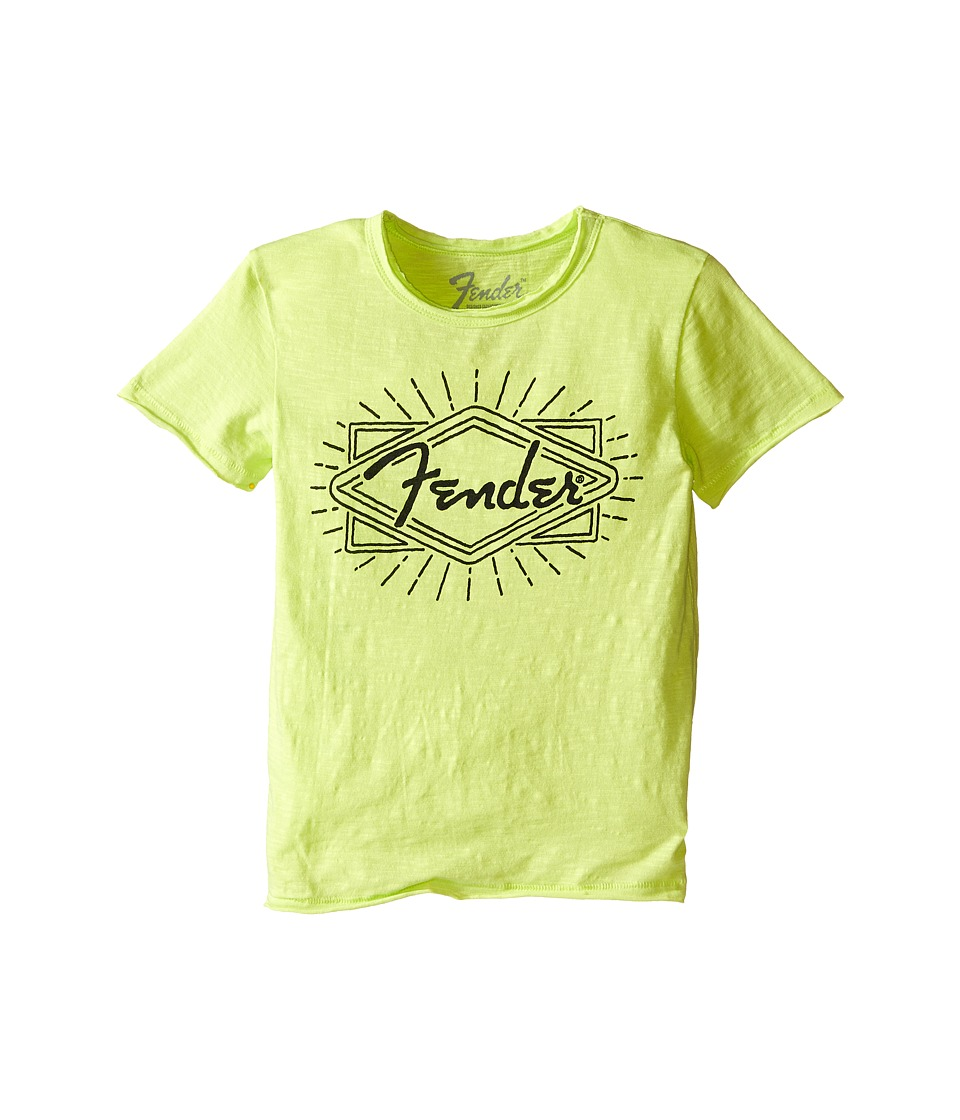 Lucky Brand Kids - Fender Ray Tee (Little Kids/Big Kids) (Neon Green) Boy's T Shirt
