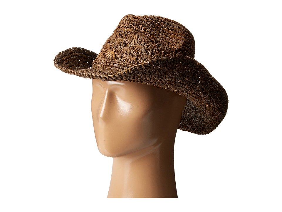 Roxy - Cantina Fedora Hat (Brown) Fedora Hats