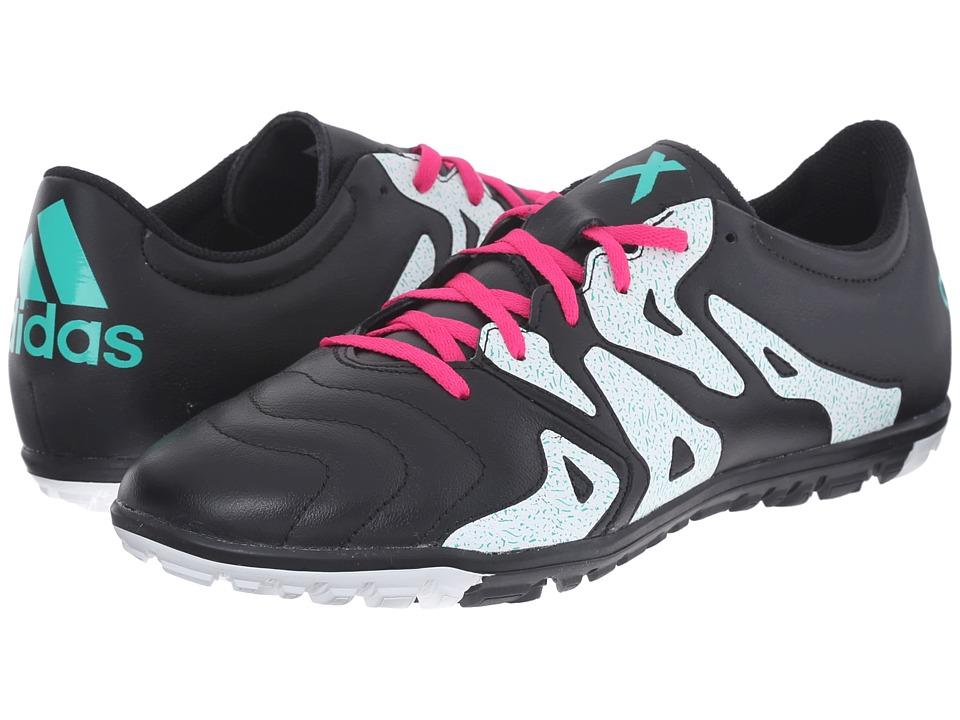 adidas - X 15.3 TF (Black/Shock Pink/Shock Mint) Women's Shoes