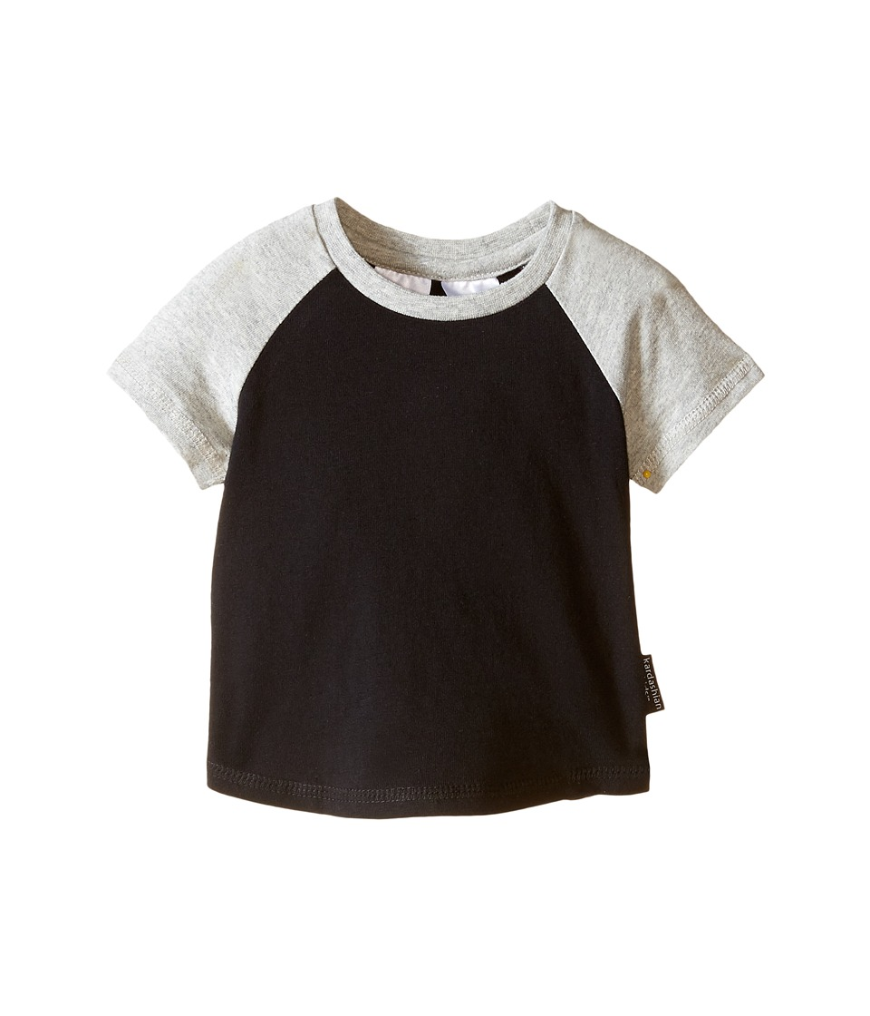 Kardashian Kids - Raglan Tee (Infant) (Black/Grey) Boy's T Shirt