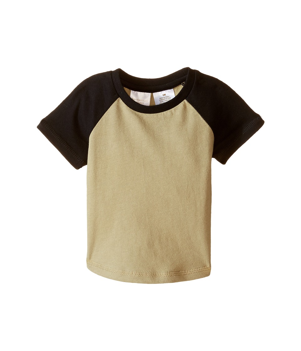 Kardashian Kids - Raglan Tee (Infant) (Green/Black) Boy's T Shirt