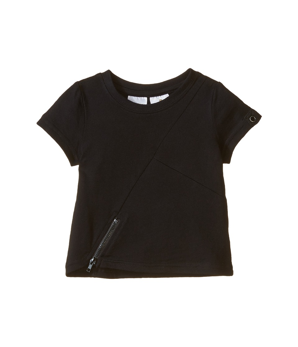 Kardashian Kids - Tee with Zip Detail (Infant) (Black) Boy's T Shirt