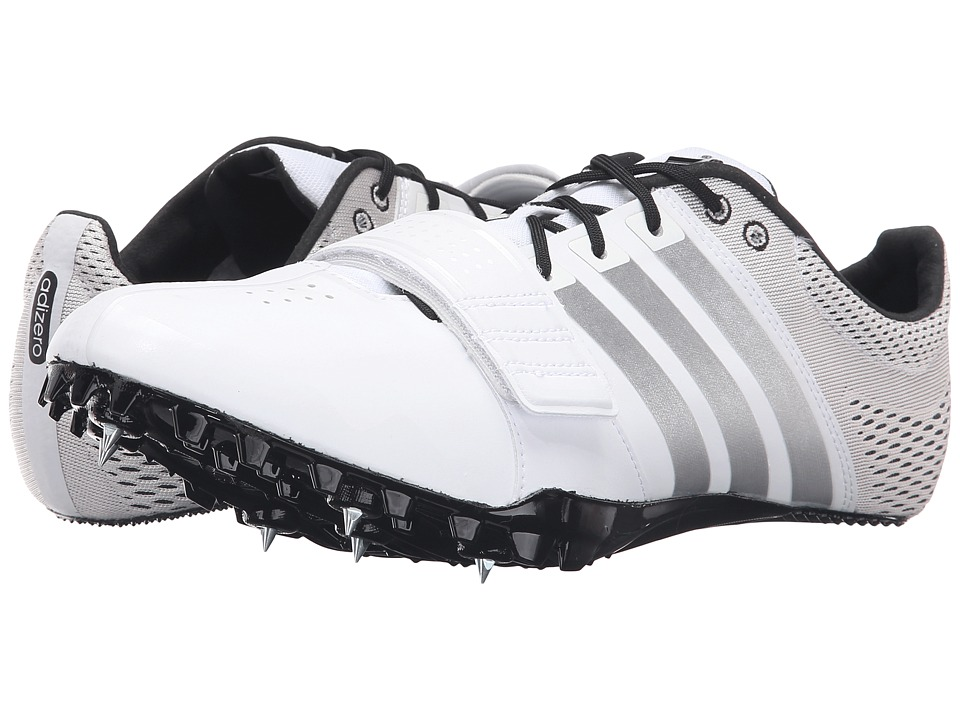 adidas - Adizero Accelerator (White/Silver/Black) Athletic Shoes