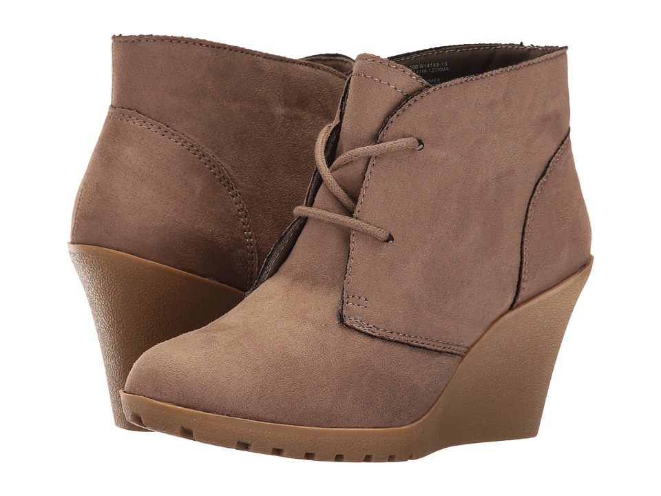 White Mountain - Irma (Taupe) Women's Lace-up Boots