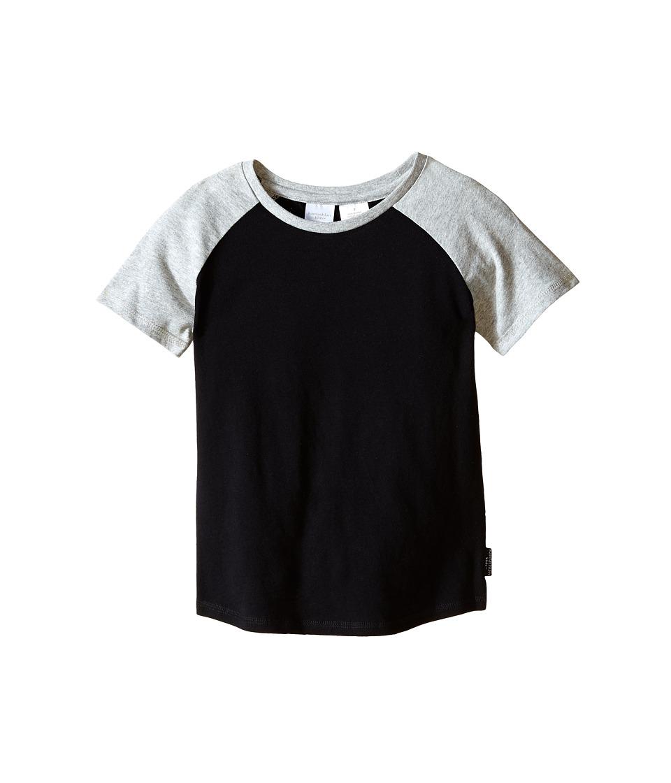 Kardashian Kids - Raglan Tee (Toddler/Little Kids) (Black/Grey) Boy's T Shirt