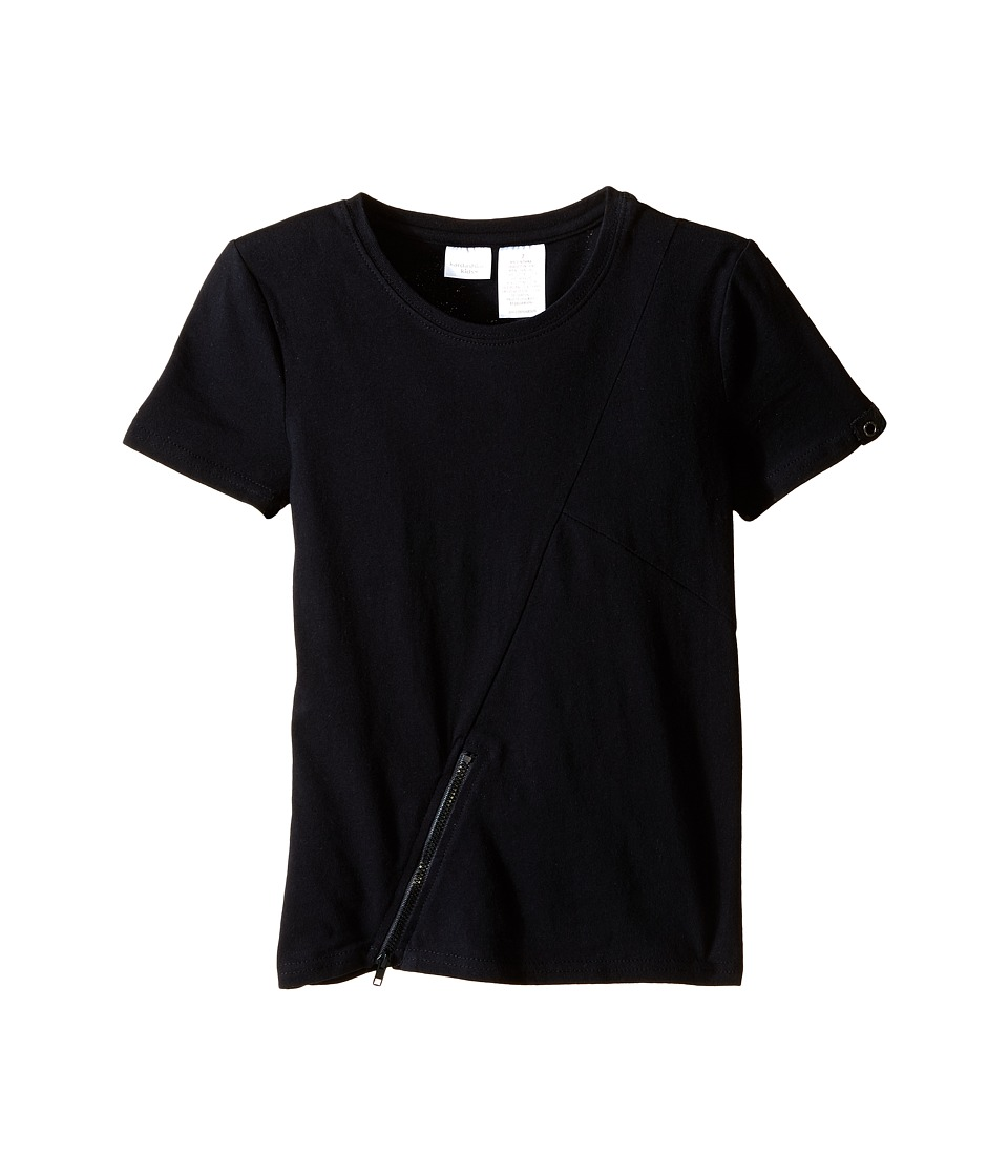 Kardashian Kids - Tee with Zip Detail (Toddler/Little Kids) (Black) Boy's T Shirt