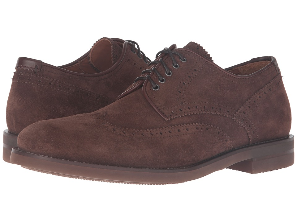 Aquatalia - Carson (Brown Dress Suede) Men's Lace up casual Shoes