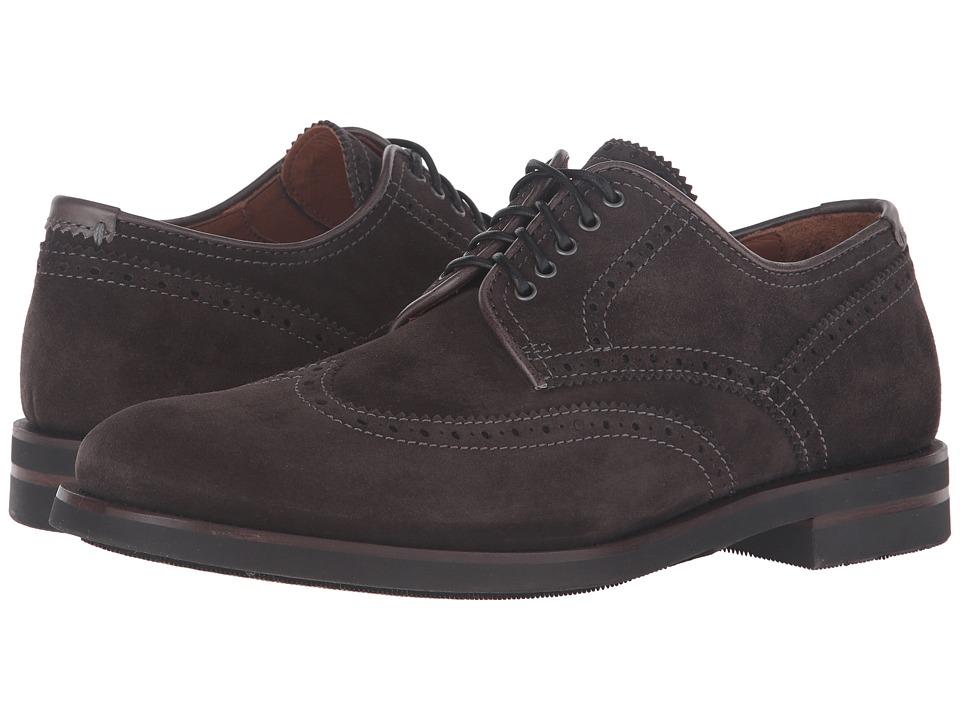 Aquatalia - Carson (Charcoal Dress Suede) Men's Lace up casual Shoes