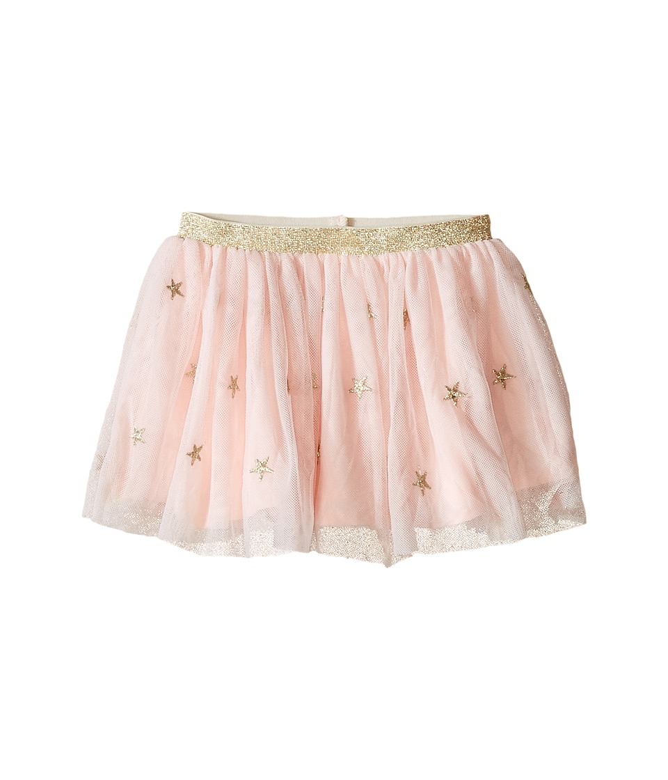 Kardashian Kids - Star Metallic Embroided Skirt with Gold Elastic (Infant) (Ice Pink) Girl's Skirt