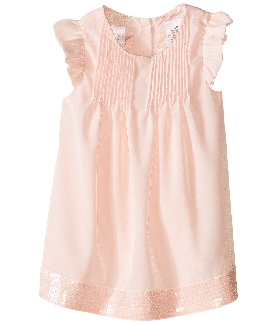 Kardashian Kids - Pintuck Sequin Hem Dress (Infant) (Ice Pink) Girl's Dress