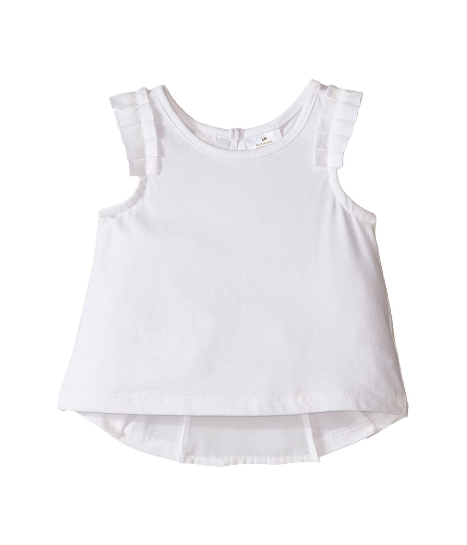 Kardashian Kids - Jersey Tee with Pleated Sleeve and Crepe Pleat Back (Infant) (White) Girl's T Shirt
