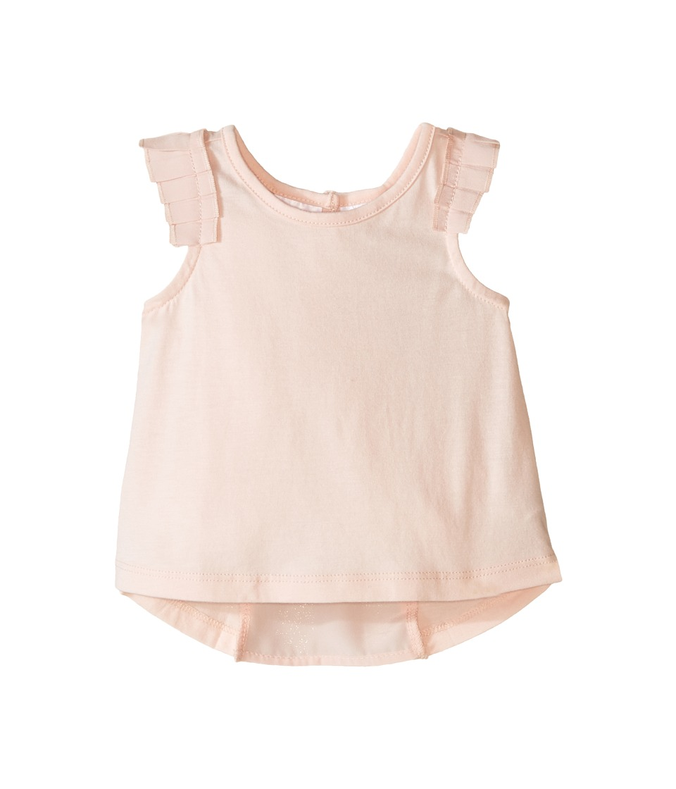 Kardashian Kids - Jersey Tee with Pleated Sleeve and Crepe Pleat Back (Infant) (Ice Pink) Girl's T Shirt