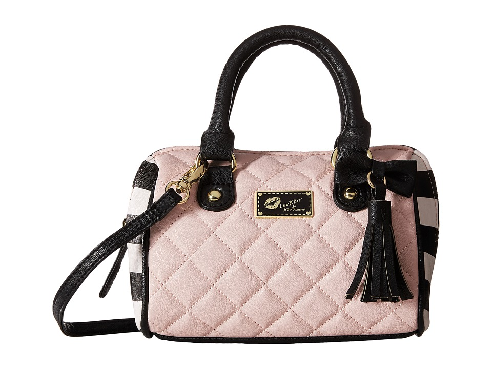 Luv Betsey - Harli Mini Barrel (Blush/Bone) Satchel Handbags