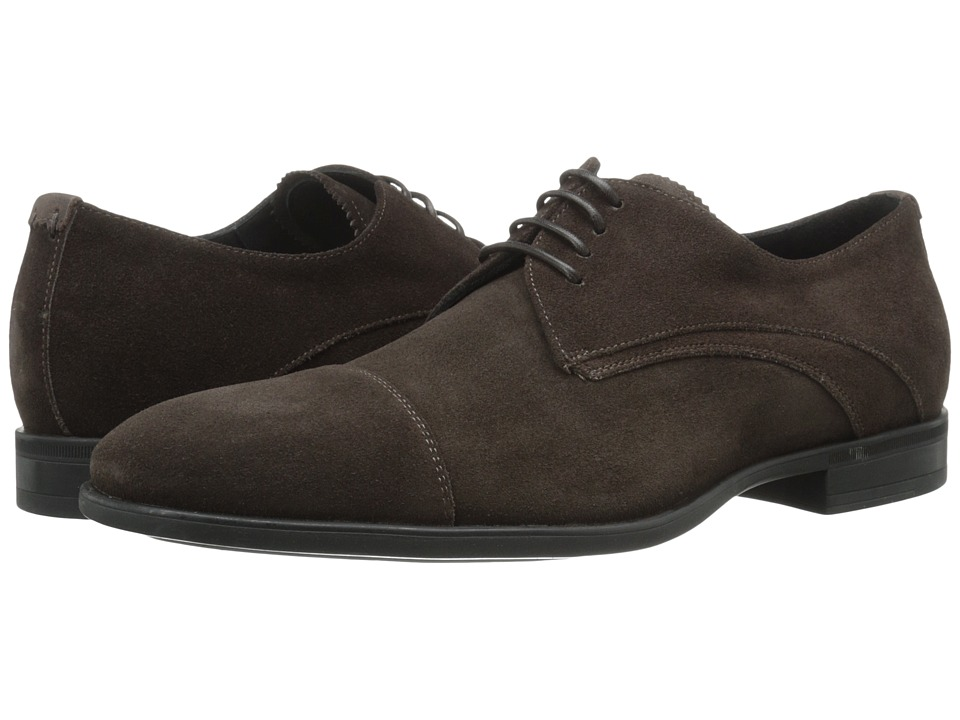 Image of Aquatalia - Abe (Dark Brown Dress Suede) Men's Lace up casual Shoes