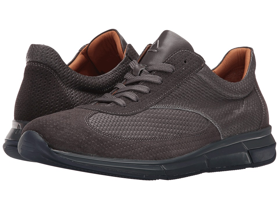 Aquatalia - Zander (Medium Grey Woven Calf) Men's Shoes