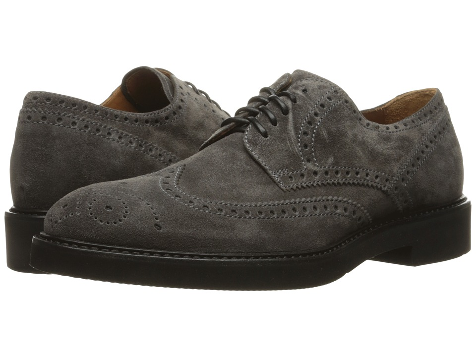 Aquatalia - Trevor (Charcoal Suede) Men's Shoes