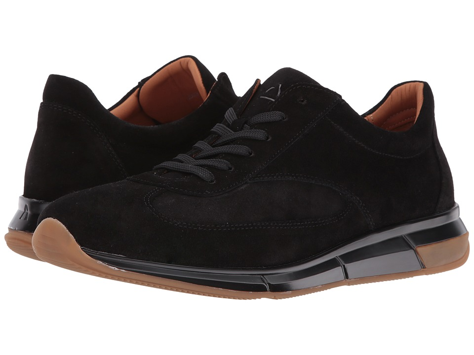 Aquatalia - Zander (Black Suede) Men's Shoes