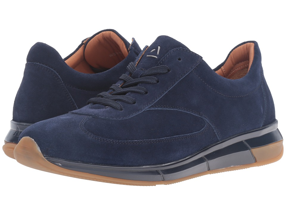 Aquatalia - Zander (Navy Suede) Men's Shoes