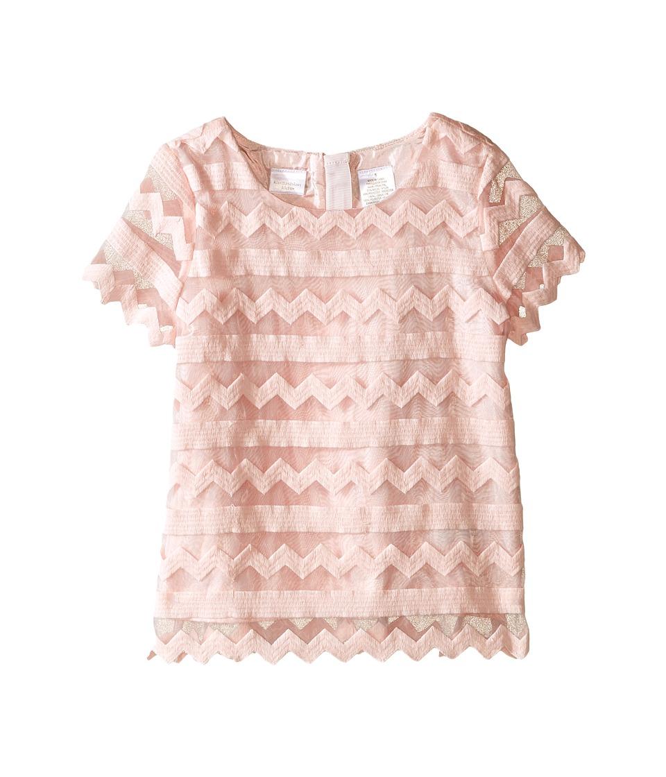 Kardashian Kids - Embroidered Organza Top (Toddler/Little Kids) (Ice Pink) Girl's Clothing
