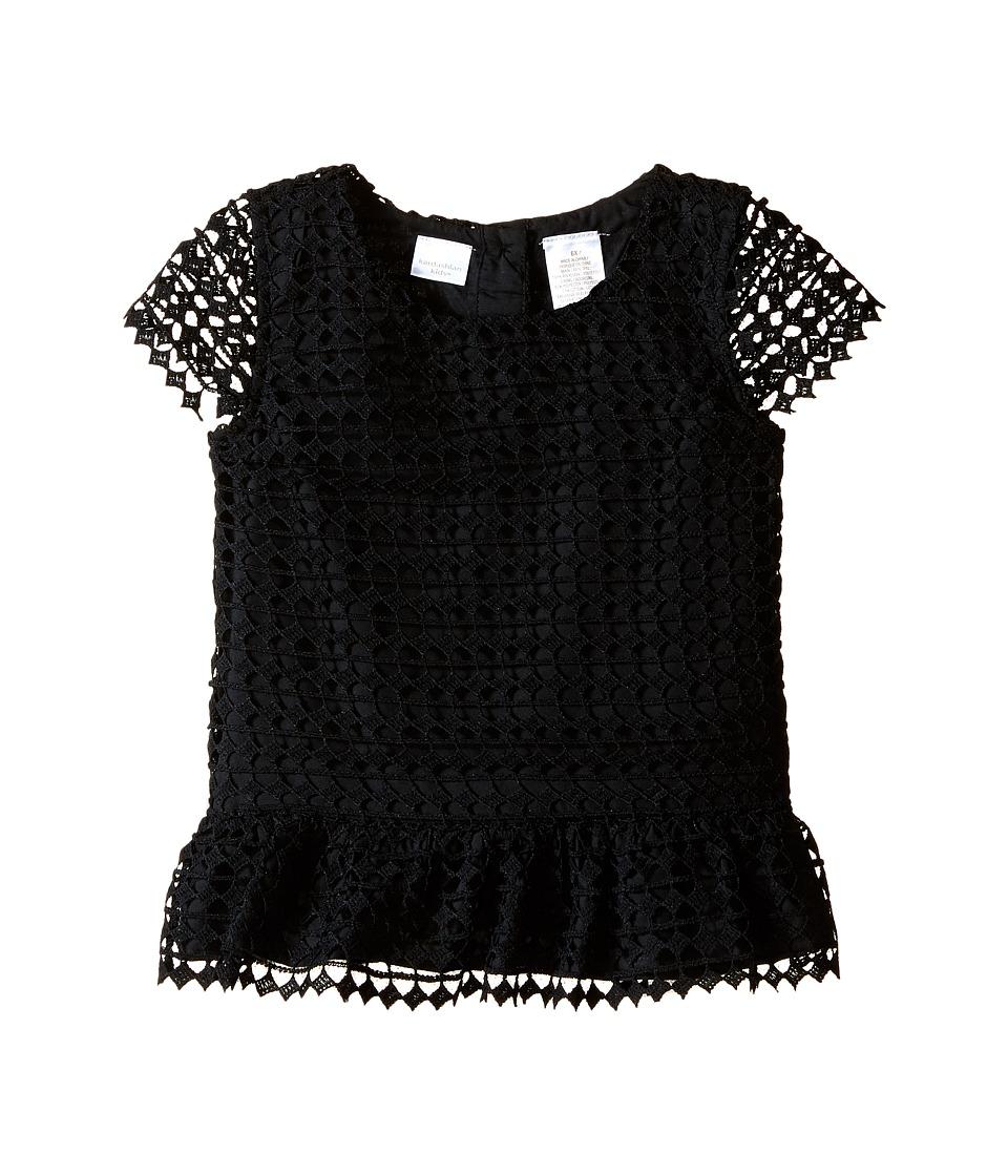 Kardashian Kids - Lace Peplum Top (Toddler/Little Kids) (Black) Girl's Clothing
