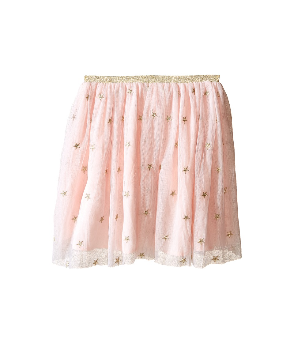 Kardashian Kids - Star Metallic Embroided Skirt with Gold Elastic (Toddler/Little Kids) (Ice Pink) Girl's Skirt