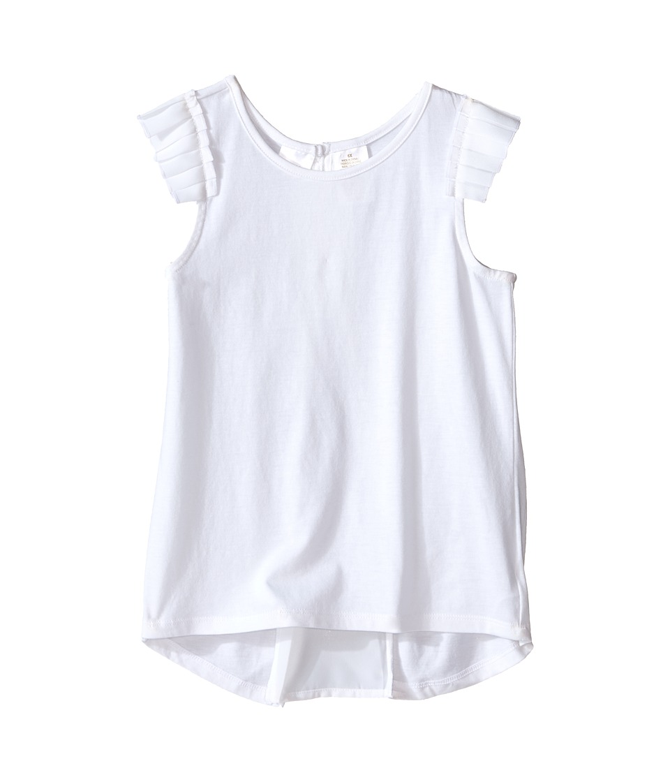 Kardashian Kids - Jersey Tee with Pleated Sleeve and Crepe Pleat Back (Toddler/Little Kids) (White) Girl's T Shirt