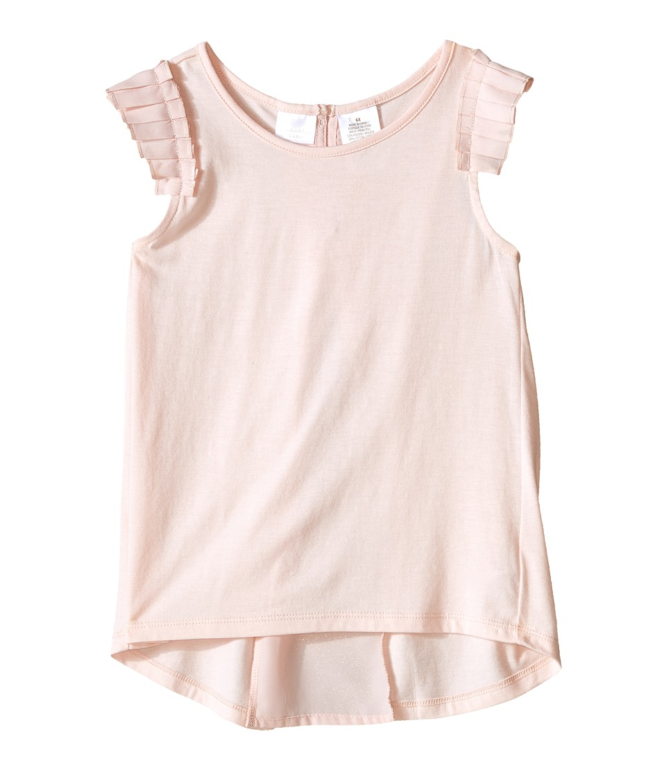 Kardashian Kids - Jersey Tee with Pleated Sleeve and Crepe Pleat Back (Toddler/Little Kids) (Ice Pink) Girl's T Shirt