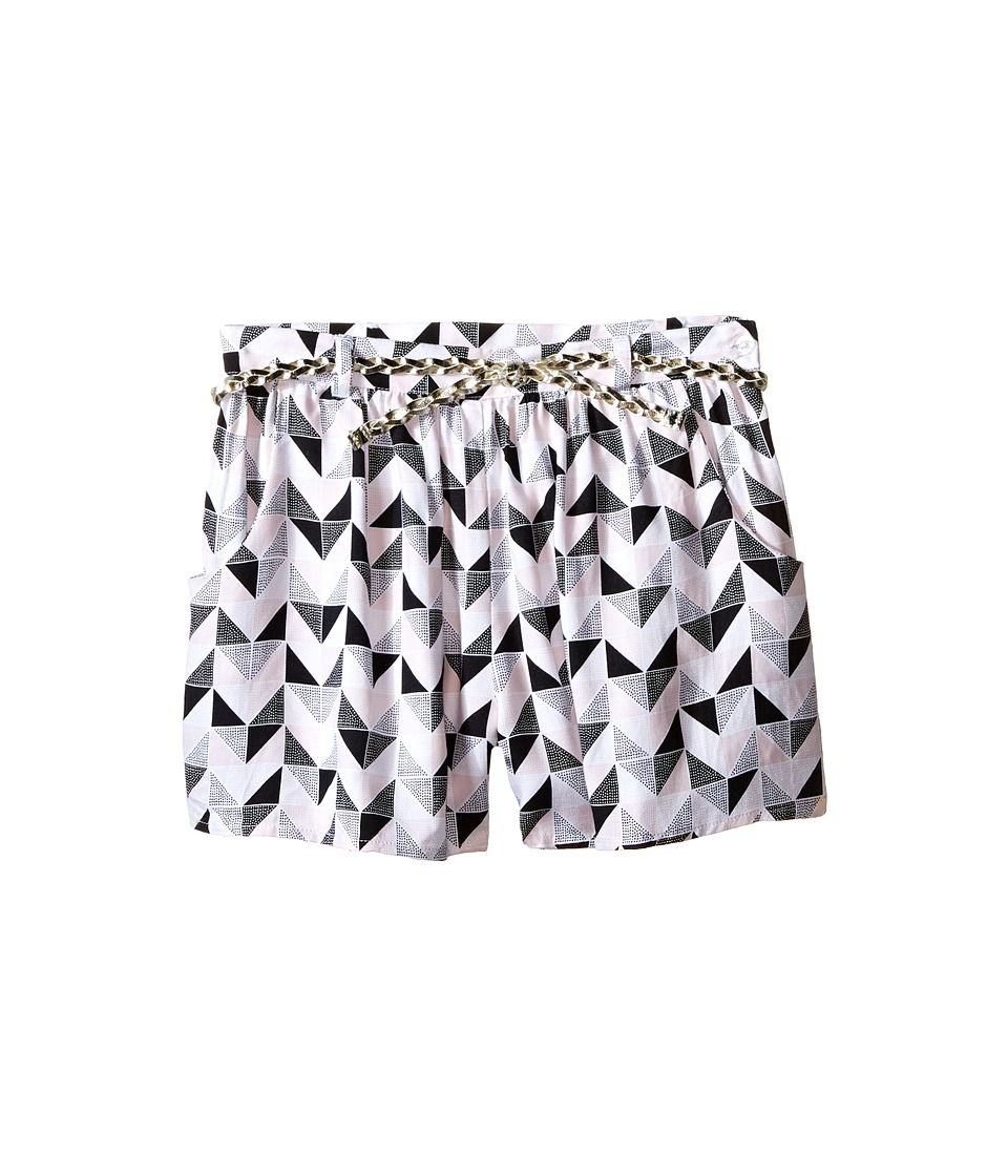 Kardashian Kids - Loose Printed Shorts with Gold Plaited Belt (Toddler/Little Kids) (Print Multi) Girl's Shorts