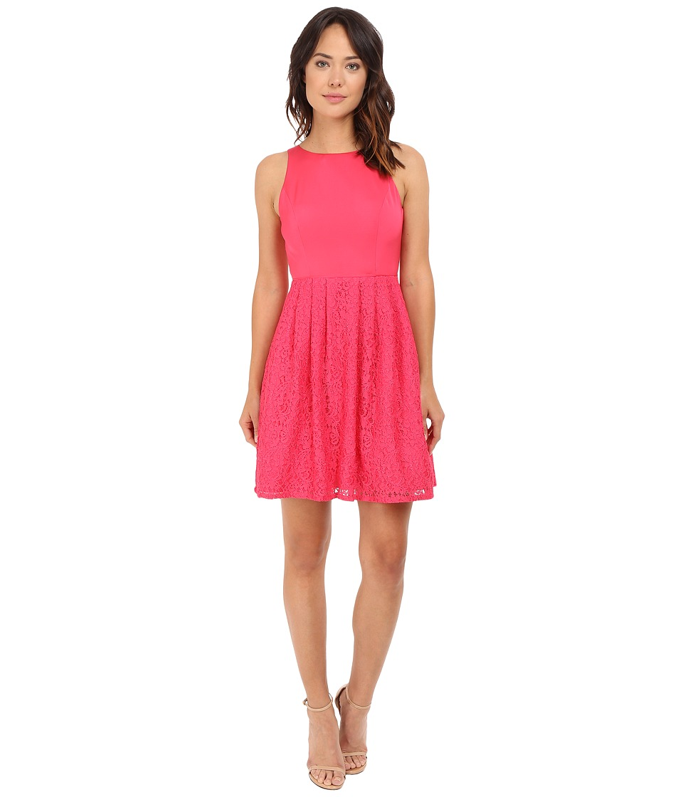 Adrianna Papell - Sleeveless Lace and Faille Party (Peony) Women's Dress
