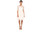 Adrianna Papell - Embroidered Grid Party Dress