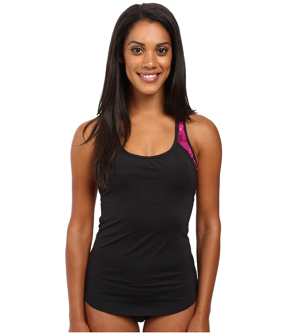 TYR - Cadet 2-in-1 Tankini (Black/Pink) Women's Swimwear
