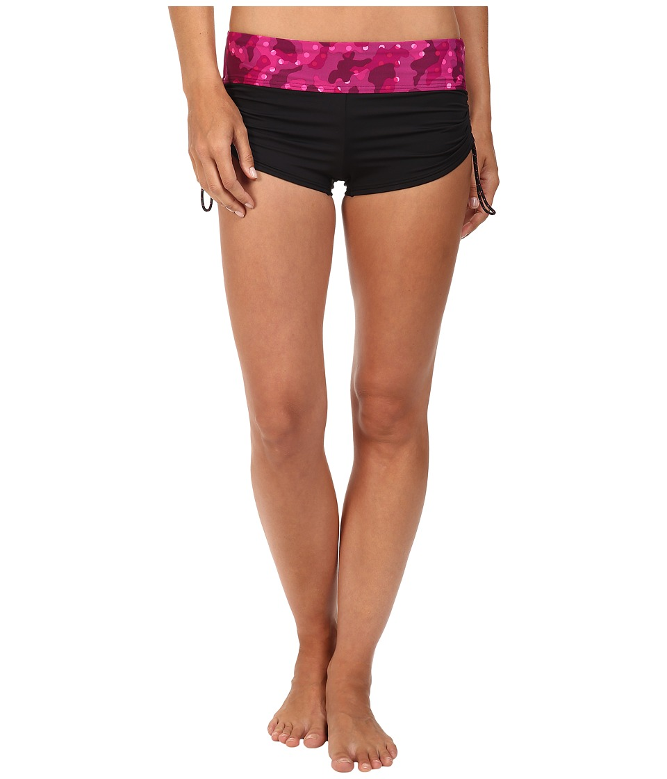 TYR - Cadet Active Mini Boyshorts (Black/Pink) Women's Swimwear