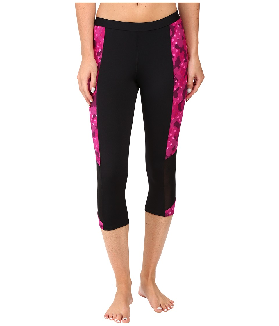 TYR - Cadet Flex Splice Capris (Black/Pink) Women's Swimwear