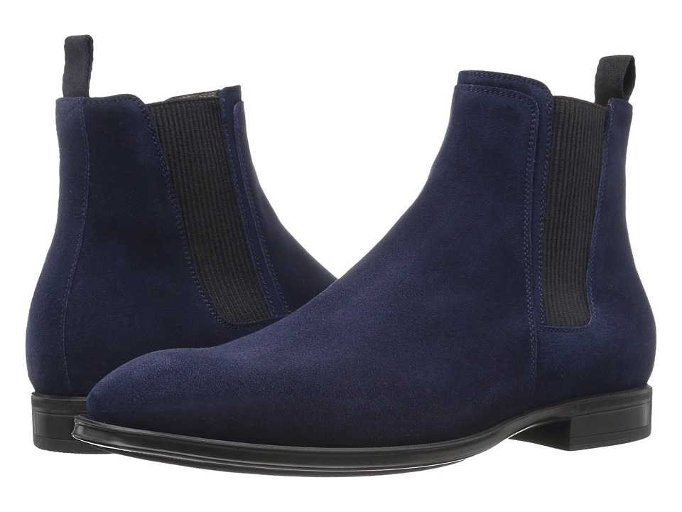 Aquatalia - Damon (Navy Dress Suede) Men's Shoes