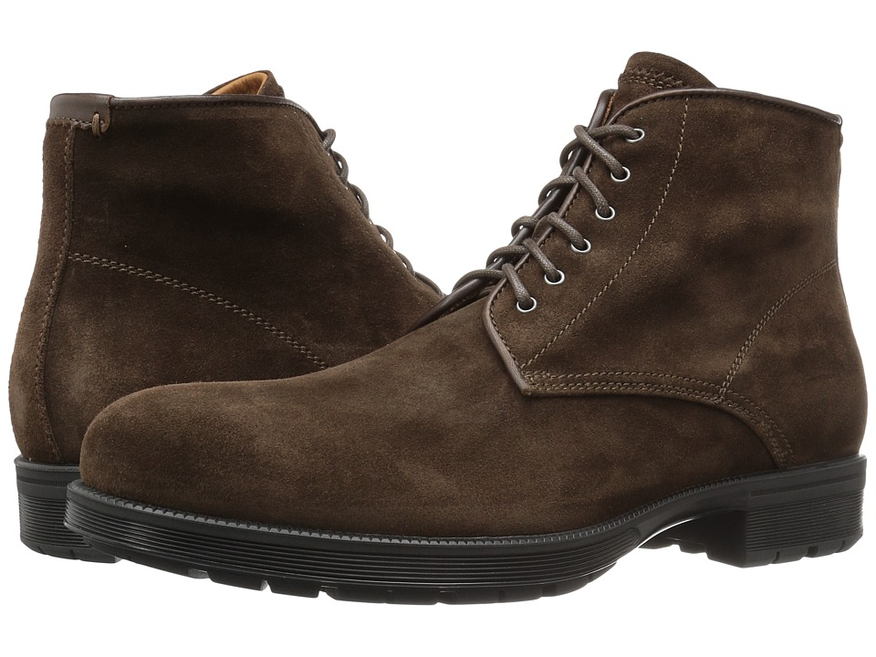 Aquatalia - Harvey (Brown Waxy Suede) Men's Shoes